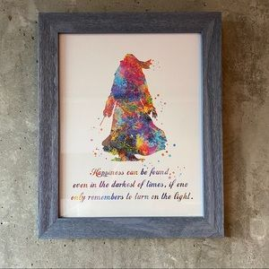 Harry Potter Albus Dumbledore Quote Framed Print